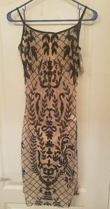 BNWT One Monarchy mesh sequined bodycon dress